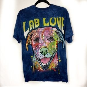 The mountain Lab Love tie dyed tshirt
